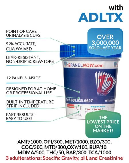 12 Panel Drug Test Cup With Adulterants (ADLTX) - 12 Panel Now