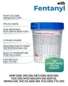 13 Panel Drug Test Cup (Fentanyl) - 12 Panel Now