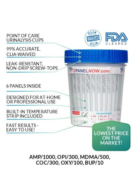 6 Panel Drug Test Cup - 12 Panel Now
