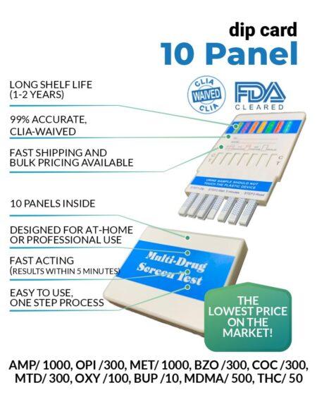 10 panel urine drug test dip card - 12 Panel Now