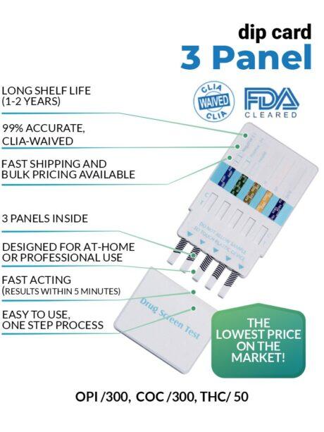 3 Panel Drug Test Dip Cards - 12 Panel Now