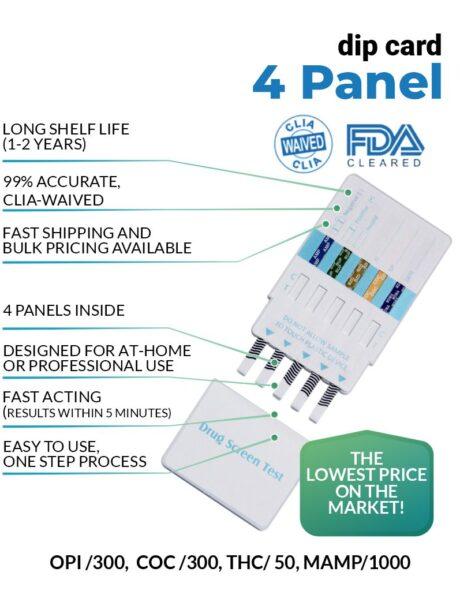 4 panel drug test dip card - 12 panel Now