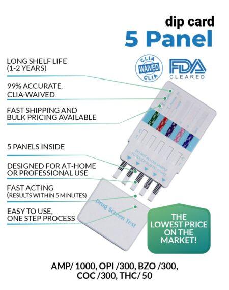 5 Panel Drug Test Dip Card - 12 Panel Now