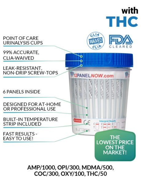 6 Panel Urine Drug Test with THC - 12 Panel Now