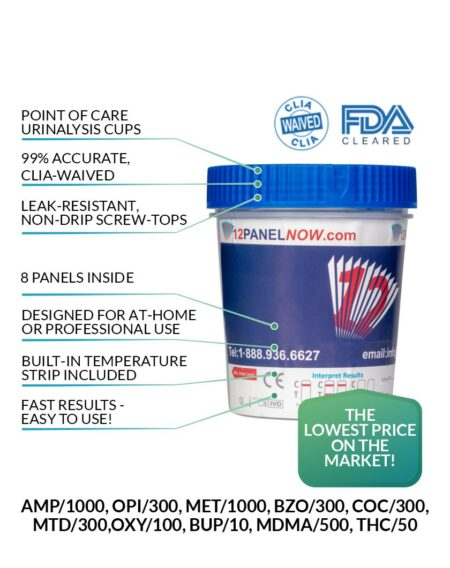 8 Panel Drug Test Cup - 12 Panel Now