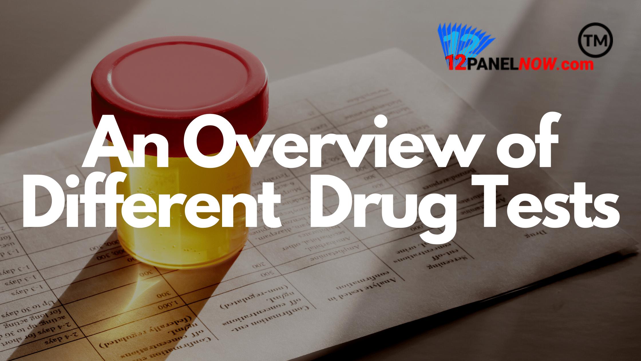 different types of drug tests